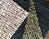 Stylish and Beautiful Woven Leather Coasters in Distressed Brown & Grey, Set of FOUR for your Holiday Gift, Eco Friendly and Upcycled