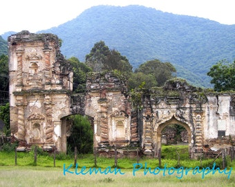 Antigua Guatemala Ruins Greeting Card-READY TO SHIP