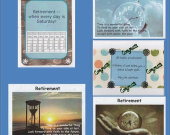 Retirement Card- When Everyday is Saturday and 4 other cards-Free Shipping US