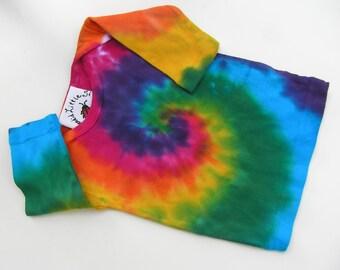 BABY Tie Dye LAP T SHIRT, long sleeve, baby, 3 months, rainbow, colorful, soft rib knit, swirl pattern