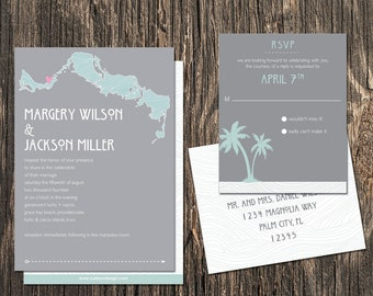 Turks and Caicos Wedding Invitation Set - Turks & Caicos Destination Wedding