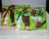 Chocolate Golf Gift Set golf bag, balls, clubs and tee's