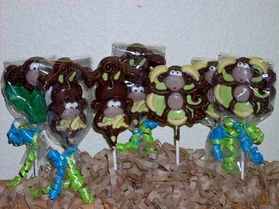 10 Jungle Monkey Lollipops