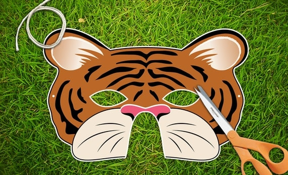 Tiger Party Mask, Halloween Mask, Printable PDF, Chinese New Year