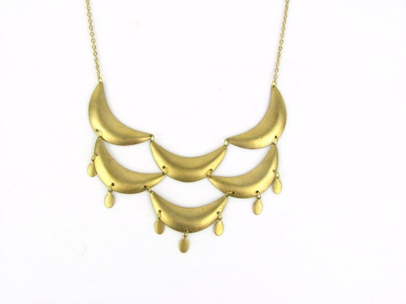 B I B brass scallop  // necklace