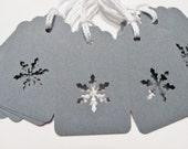 Christmas Gift Tags - Snowflake - Steel Gray (Set of 10)
