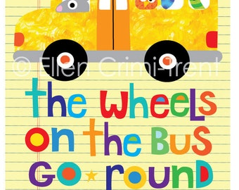 Kids Wall Art- The wheels on the bus