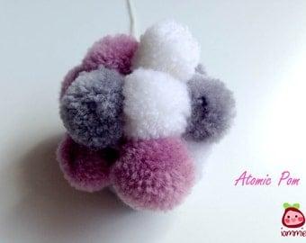 Yarn Pom Pom, Ornament, Christmas ornament, Xmas, decoration, decor, home decor, pompom, party, wedding, custom, birthday, ball, Atomic Pom