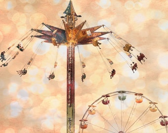 State Fair Flyers - Fine Art Print - Carnival Ride - Midway Fun