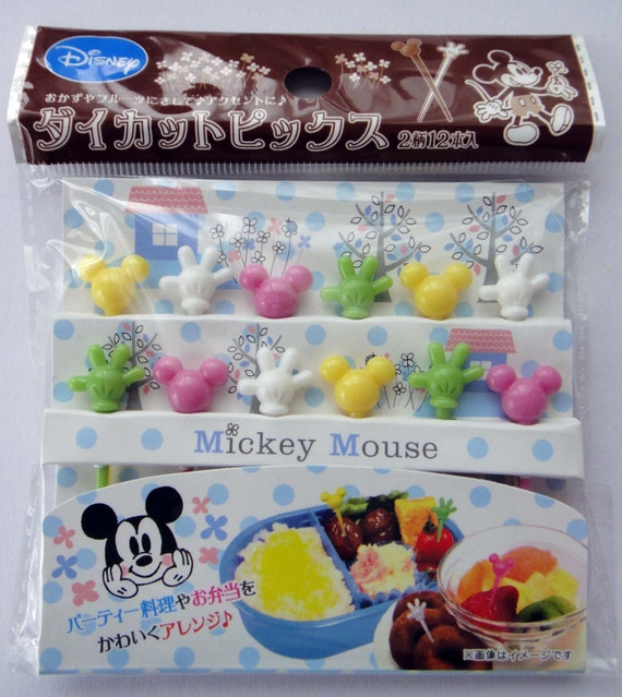 Disney Mickey Mouse Bento Picks / Cake Toppers - Set Of 12 - Mickey ...