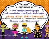Halloween Party Invitation -- Halloween Birthday Invite -- 5x7 Printable