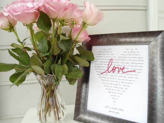 4 personalized parents wedding gifts, the love chapter, scripture wall art, popular wedding reading