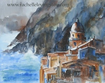 Italy Painting of Italy Art PRINT Italy PRINT Italian art PRINT italian Painting seascape wall art home decor 8x10 landscape painting ocean