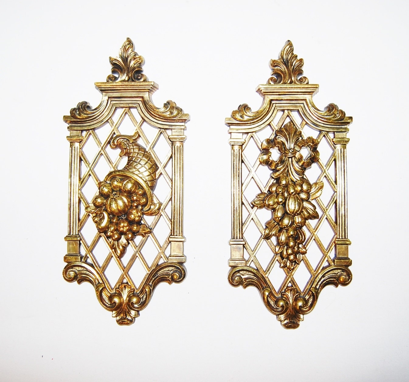 vintage hollywood regency gold wall decor
