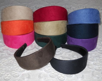 Classic Chic Faux Suede Wide Headband in Many Colors