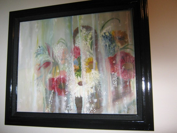 items similar to sale oil painting basket of flowers