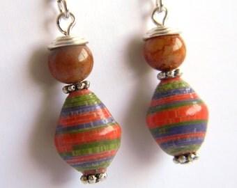 Paper Bead Jewelry - Earrings - #8046
