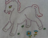Purple Pony Dish Towel