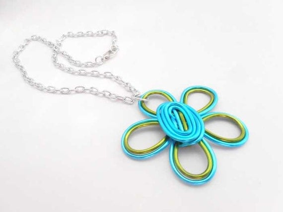 Double Daisy Wire Necklace - Choose Your Color combo