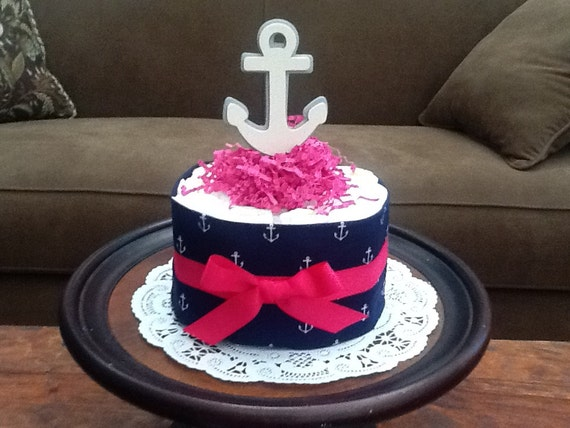 nautical girl sailing baby shower centerpiece diaper cakes other