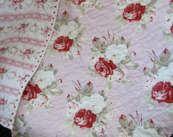 Baby  Crib or Toddler Sized Whole cloth Custom Quilt You choose your own fabrics
