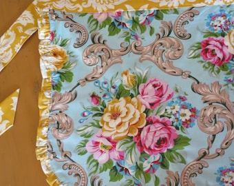 Reversible Half Apron with Ruffles made with Sweet Circa Fabric by Jennifer Paganelli