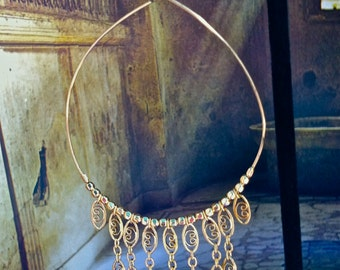 Gold Lace Hoop