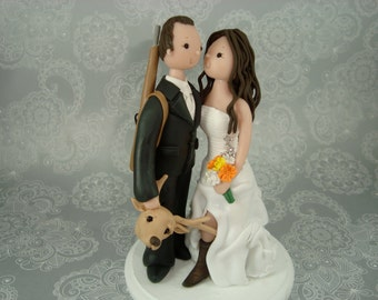 Customized Hunting Theme Wedding Cake Topper