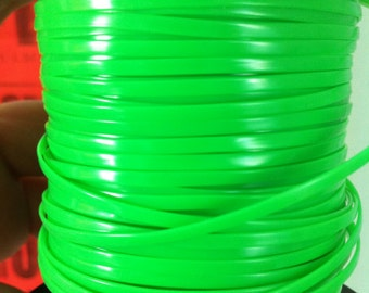 10 Meters of Bright Apple Green rexlace, perfect for adding to dread falls