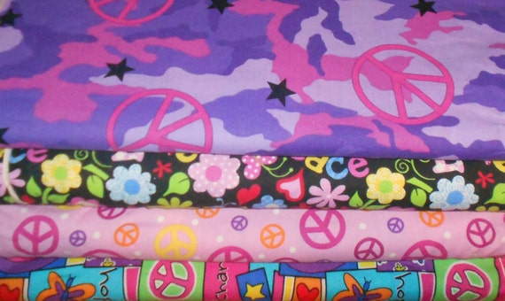 PEACE & LOVE  Fabrics Group1, Sold by the Half Yard (More is a Continuous Piece)