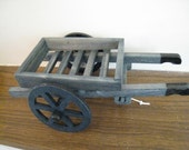 Country hand cart, ,, twelfth scale dollhouse miniature