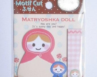 Kawaii Post-It Index Stickers - Matryoshka Doll - (70470)
