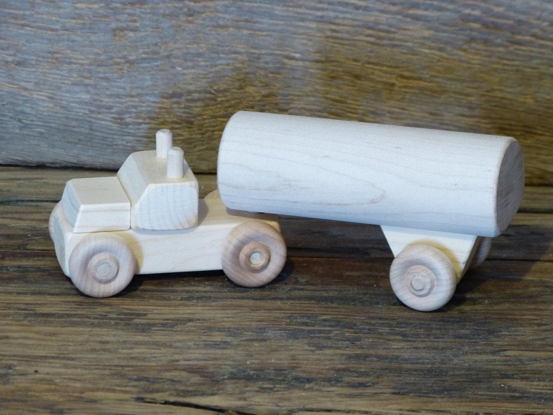 Wooden Toys For Boys : Handmade wooden toy tanker milk truck toys kids boys