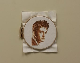 David Tennant (The 10th Doctor) Cross Stitch Portrait