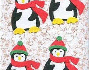 Lot of 4 Bosskuts Penguins Die Cuts