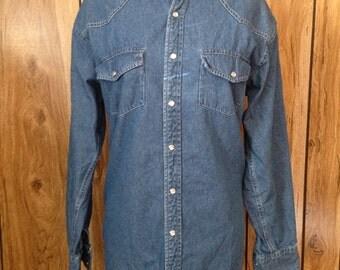 Vintage 80s Wrangler Hero denim shirt