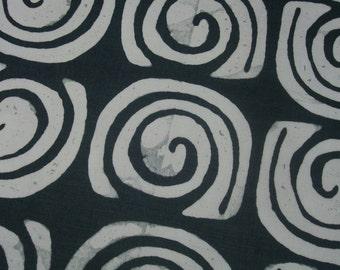 Grey Hemp Dish Towel, Batik Fabric, Modern Hemp Kitchen Towel, Grey Tea Towel, Caracol