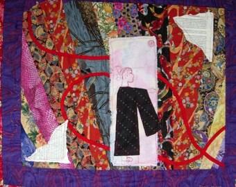 Art quilt wall hanging Shogun