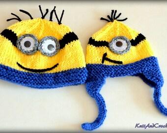 Minion Hat, Crochet Minion hat, crochet hats
