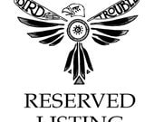 Reserved listing for Lauren
