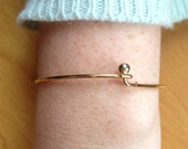 Vintage gold plated hook bangle, vintage gold bangle
