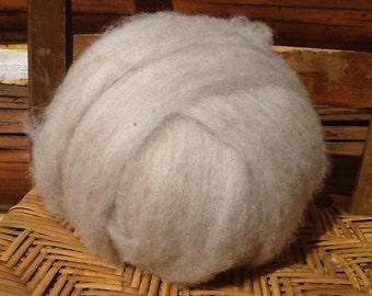 Oatmeal Shetland Wool Roving 4 ounces