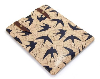 Leather iPad Air Case, iPad Air 2 case, iPad 4 case - Swallow and Leaf