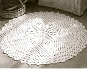 INSTANT DOWNLOAD-Vintage crochet pattern for lace stitch rug-pdf email delivery