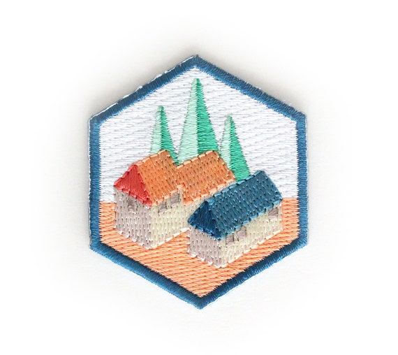 Camping Cabins Iron On Patch