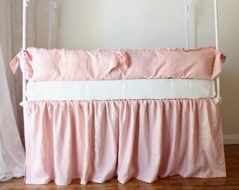 Lulu .. Baby crib bumper and skirt set