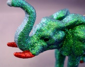 Glitter Menagerie Elephant Ornament