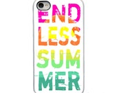 On Sale!Endless Summer Neon with White, Black or Clear Sides iPhone Case - IPhone 4, 4S, 5, 5S, 5C Hard Cover - Unique Trendy  - artstudio54