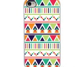 On Sale!Geometric Triange - Teal Blue Green - White, Black or Clear Sides iPhone Case - IPhone 4, 4S, 5, 5S, 5C,6 Hard Cover - artstudio54