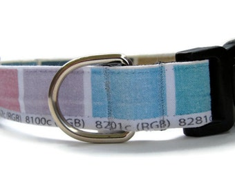 Paint Swatch Dog Collar Custom Adjustable Dog Collar Small, Medium or Large